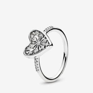 Pandora Heart of Winter Ring, Clear CZ